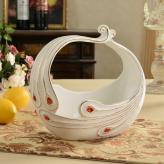 创意陶瓷欧式水果篮 陶瓷...