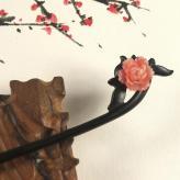 古典黑檀木簪子 发簪工艺...