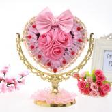 粉玫瑰新娘结婚梳妆镜  ...