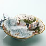 欧式手绘立体水鸭糖果碗 ...