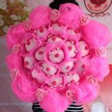 小猪卡通花束玫瑰花束 花...