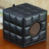 欧式黑色皮革纸巾盒 生活...