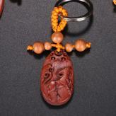 十二生肖钥匙挂件 木雕艺...