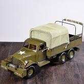 金属仿古模型军用卡车 金...