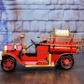 复古老式消防车模型 金属...