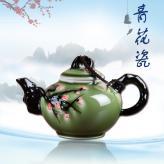 梅花彩釉茶具  茶具艺术...