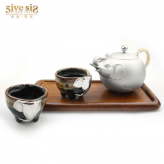 吉象彩瓷杯锡茶具套装 锡...