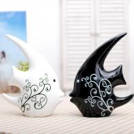 亲吻鱼 陶瓷工艺品
