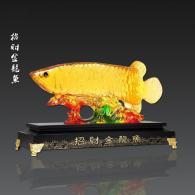 小招财金龙鱼 树脂工艺品
