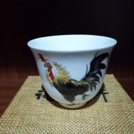 谢洁莉 《鸡公杯》陶瓷艺术品