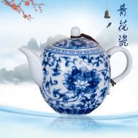 青花带盘茶具 茶具艺术汇