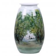 赖德全《乡村叠翠》 陶瓷瓷瓶艺...
