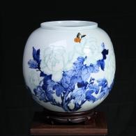 方文生《花开富贵》瓷瓶艺术品