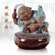 开然《欢欣鼓舞》石湾陶艺艺术品