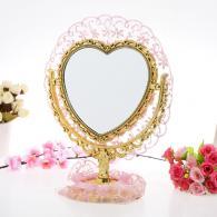 心形台式化妆美容镜  生活用品...