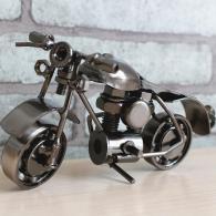 创意摩托车复古模型摆件 金属工...