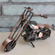 家居装饰铁艺摩托车 金属工艺品