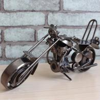 大号哈雷铁皮摩托车模型 金属工...