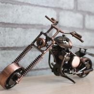 小号哈雷摩托车模型 金属工艺品