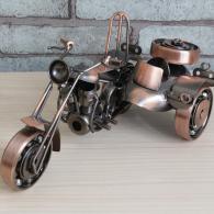 边三轮摩托车模型 金属工艺品