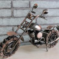 金属铁皮摩托车模型摆件 金属工...
