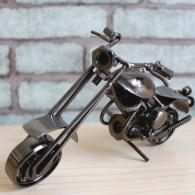 小号铁艺摩托车模型摆件 金属工...
