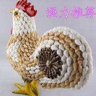 贝壳海螺十二生肖鸡 家居装饰工...