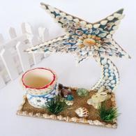 海螺贝壳许愿星 家居装饰工艺品