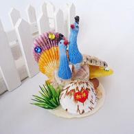 海螺贝壳创意孔雀开屏 家居装饰...