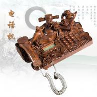 电话机 黄花梨 根雕艺术品