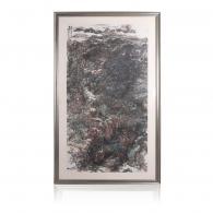 李照东《溪山自足》国画艺术品