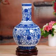 仿古青花花瓶 陶瓷工艺品