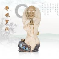 陈沛津《静观罗汉》石湾陶艺艺术...