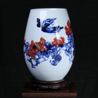 方文生《秋韵》瓷瓶艺术品
