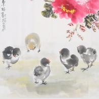 林树昭《五福富贵图》国画艺术品