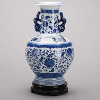 青花釉陶瓷花瓶 陶瓷工艺品