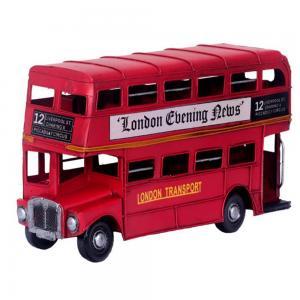 双层巴士铁皮汽车模型...