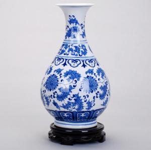 青花瓷陶瓷花瓶 陶瓷...