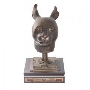 圆明园兽首-兔 黄铜...