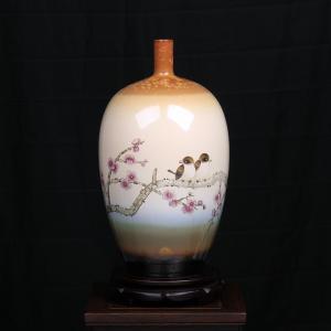 周红《喜梅图》 陶瓷...