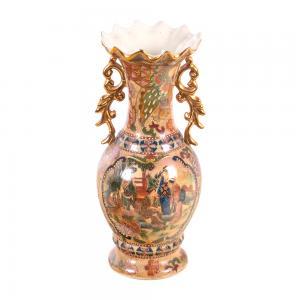 描金莲口瓶 陶瓷工艺...