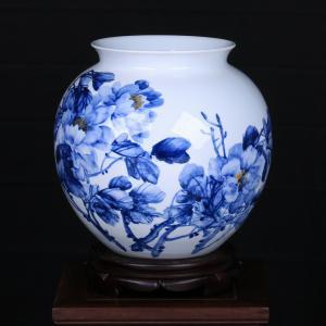 田曼《花开富贵》瓷瓶...