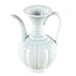 青白釉瓜棱壶 陶瓷工...