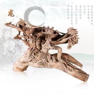 龙 檀香木  根雕艺...