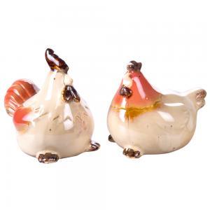陶瓷对鸡 陶瓷工艺品