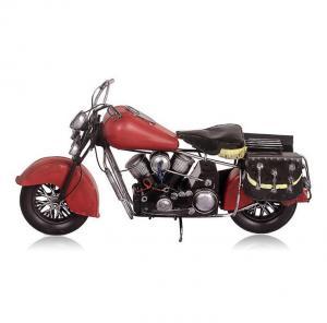 复古铁皮摩托车模型 ...