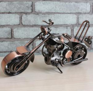 铁艺摩托车模型摆件 ...