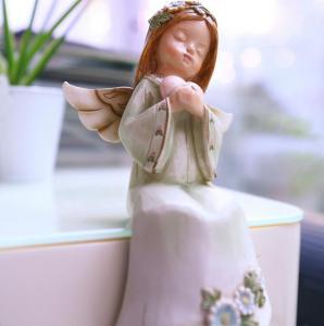 天使礼品情侣摆件 家...