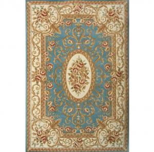 欧式湖蓝优质新品地毯...