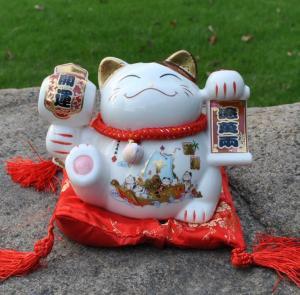 大号陶瓷招财猫储蓄罐...